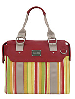 cheap -Women Bags Cowhide Canvas Shoulder Bag Zipper for Casual All Season Red
