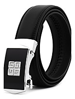 Men's Alloy Leather Waist Belt,Work Casual/Daily Belts Wedding Solid Fashion
