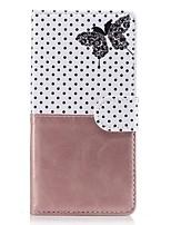 abordables -Coque Pour Sony Xperia Z5 Sony Xperia Z3 Sony Porte Carte Portefeuille Avec Support Clapet Motif Coque Intégrale Papillon Dur faux cuir