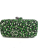 cheap -Women Bags PU Metal Evening Bag Crystal Detailing for Event/Party All Season Green