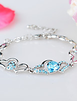 Women's Chain Bracelet Jewelry Natural Handmade Fashion Vintage Crystal Alloy Heart Irregular Jewelry 147Wedding Party Anniversary