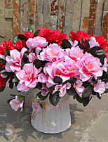 1 Branch Plastic Azalea Tabletop Flower Artificial Flowers