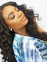 Недорогие -Натуральные волосы Лента спереди Парик Малазийские волосы Свободные волны Парик С пушком 120% Природные волосы Жен. Короткие / Средние / Длинные Парики из натуральных волос на кружевной основе