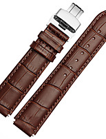 cheap -For Huawei Watch 18mm/22mm MSTRE Watch Band Strap Solid color Leather Butterfly Buckle