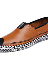 Men's Shoes Nappa Leather Spring Fall Moccasin Formal Shoes Loafers & Slip-Ons for Casual Party & Evening Black Brown