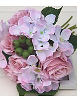 1 Филиал Полиэстер Розы Гортензии Цветы на стену Искусственные Цветы
