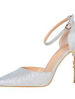 abordables -Mujer Zapatos Brillantina Primavera Verano Pump Básico Confort Tacones Tacón Stiletto Punta cerrada Dedo Puntiagudo Purpurina para