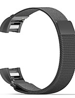 cheap -For Fitbit Charge 2 Band Milanese Loop Stainless Steel Bracelet Smart Watch Strap  Connector
