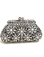 cheap -Women Bags Glasses Metal Evening Bag Crystal Detailing for Wedding Event/Party All Season Black