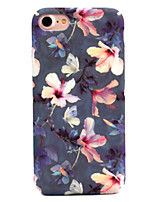 baratos -Capinha Para Apple iPhone 7 Plus iPhone 7 Estampada Capa traseira Flor Rígida PC para iPhone 7 Plus iPhone 7 iPhone 6s Plus iPhone 6s