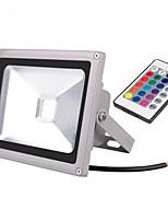 baratos -1pç 20 W Focos de LED Impermeável / Controlado remotamente / Decorativa RGB 85-265 V Iluminação Externa / Pátio / Jardim 1 Contas LED