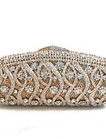 Недорогие -жен. Мешки Металл Вечерняя сумочка Кристаллы для Для праздника / вечеринки Весна Осень Золотой