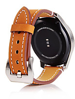 cheap -For Samsung Gear S3 Frontier / Classic Gear 22MM Cowhide Genuine Leather Wrist Band Classic Buckle