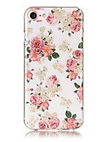 baratos -Capinha Para iPhone 5 Apple IMD Estampada Capa traseira Flor Macia TPU para iPhone SE/5s iPhone 5