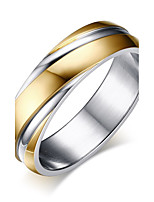 cheap -Men's Band Rings , Simple Casual Fashion Stainless Steel Circle Jewelry Work Office & Career