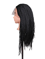 Women Synthetic Wig Lace Front Long Black African American Wig Braided Wig Natural Wigs Costume Wig
