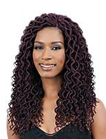 Dread Locks Hair Braid Crochet Curly Ombre Braiding Hair 100% Kanekalon Hair Auburn Burgundy Blonde Medium Auburn Strawberry Blonde 18