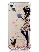 abordables -Coque Pour Apple iPhone 7 / iPhone 7 Plus Motif Coque Chat / Femme Sexy Flexible TPU pour iPhone 7 Plus / iPhone 7 / iPhone 6s Plus