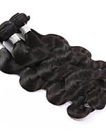 Недорогие -3 шт. Натуральные черные необработанные индийские человеческие волосы сплетают наращивание волос