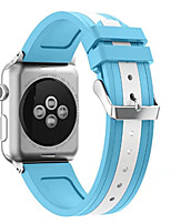 Недорогие -Ремешок для часов для Apple Watch Series 3 / 2 / 1 Apple Повязка на запястье Классическая застежка силиконовый