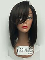 9a grade brésilien vierge cheveux bob perruque droite devant perruques cheveux humains remy vierge cheveux bob perruque avec side bang