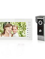 Проводной Многоквартирные видео дверной звонок 7 Гарнитура 1024*600 Один к одному видео домофона