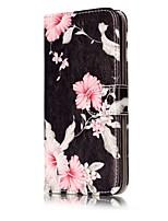 Недорогие -Кейс для Назначение Huawei P9 Lite Huawei Huawei P8 Lite Бумажник для карт Кошелек со стендом Флип Чехол Цветы Твердый Кожа PU для P10