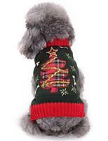 Chien Pull Vêtements pour Chien Noël Noël Noël Noir Costume Pour les animaux domestiques