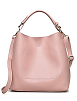 Women Bags All Seasons PU Tote Zipper for Casual Office & Career Black Red Blushing Pink Gray