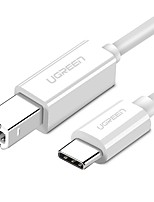 USB 2.0 Type C Câble, USB 2.0 Type C to USB Type B Câble Male - Male 1.5M (5Ft)