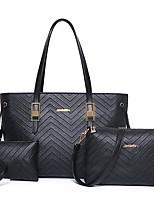 Donna Sacchetti Per tutte le stagioni PU (Poliuretano) sacchetto regola Set di borsa da 3 pezzi Cerniera per Serata/evento Casual Blu Oro
