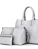 Women Bags All Seasons PU Shoulder Bag Zipper for Event/Party White Black Red Brown