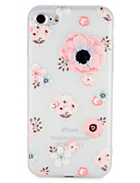 economico -Custodia Per Apple iPhone 7 / iPhone 7 Plus Decorazioni in rilievo / Fantasia / disegno Per retro Fiore decorativo Morbido TPU per iPhone 7 Plus / iPhone 7 / iPhone 6s Plus