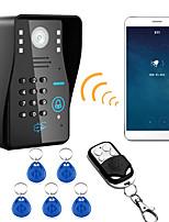 720p sem fio wifi rfid senha video porta porta do telefone interfone sistema visão noturna impermeável câmera com capa de chuva
