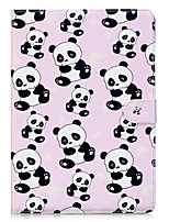 cheap -Case For Apple iPad 10.5 iPad mini 4 Card Holder Wallet with Stand Full Body Cases Panda Hard PU Leather for iPad Pro 10.5 (2017) iPad