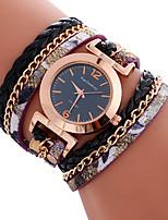 baratos -Mulheres Relógio Esportivo Bracele Relógio Quartzo Preta / Branco / Azul Criativo Relógio Casual Legal Analógico Amuleto Luxo Casual Elegante - Branco Preto Azul Um ano Ciclo de Vida da Bateria