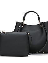 Women Bags All Seasons PU Bag Set Zipper for Casual Office & Career Black Blushing Pink Gray Khaki