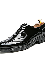 cheap -Men's Shoes Leather Spring Summer Formal Shoes Oxfords Rivet for Wedding Party & Evening Black Red Blue