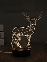 1 Set, Popular Home Acrylic 3D Night Light LED Table Lamp USB Mood Lamp Gifts, Deer
