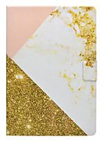 preiswerte -Fall für Apfel ipad pro 10,5 9,7 '' Abdeckung Kartenhalter mit Standmuster Ganzkörper Marmor hart PU Leder ipad (2017) 2 3 4 Luft 2 Luft