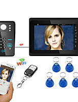 7inch Wired / Wireless Wifi RFID Password Video Door Phone Doorbell Intercom  System upport Remote APP unlocking Recording Snapshot