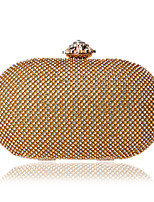 Women Bags All Season PU Evening Bag Crystal Detailing Pearl Detailing for Event/Party Gold Silver