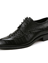 cheap -Men's Shoes Leatherette Customized Materials Synthetic Winter Fall Formal Shoes Comfort Oxfords for Casual Office & Career Black Yellow