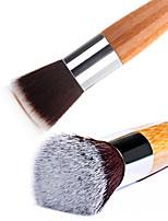 1PCS Soft Bamboo Handle Flat Nail Art Care Manicure Pedicure Clean Remove Dust Brush Tool