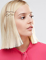 Europe and the United States foreign trade hair accessories The minimalist fashion Diamond clip hairpin A0278 copper