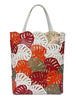 Women Bags Summer All Seasons PVC Shoulder Bag for Casual Orange