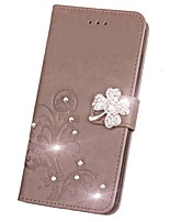 cheap -Case For LG G3 LG L70 LG LG K5 LG K10 LG K7 LG G5 LG G4 Card Holder Wallet Rhinestone with Stand Flip Magnetic Pattern Embossed Full Body