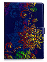 cheap -For Apple Ipad 2 3 4 Air2 Pro 10.5 Case Cover Flower Pattern PU Material Three Fold Flat Computer Shell Phone Case