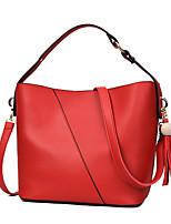 Donna Sacchetti Per tutte le stagioni PU (Poliuretano) Tote con Cerniera per Casual Blu Bianco Nero Rosso Rosa