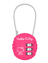 HELLO KITTY LT-641 Password Padlock Zinc Alloy 3 Password Baggage Code Lock Round Password Lock Security Lock Dail Lock Password Lock